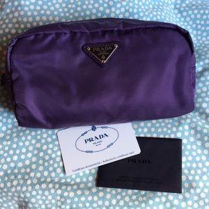 Prada Purple Pouch Clutch, Authentic